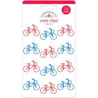 Doodlebug - Cute Clips - Bike Ride - Set of 12