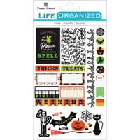 "Paper House Life Organized Planner Stickers 4.5"" x 7.5""- Halloween Fun"