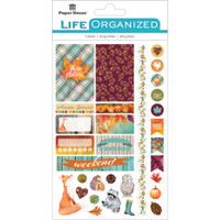 "Paper House Life Organized Planner Stickers 4.5"" x 7.5""- Autumn Woods"