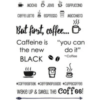 SRM Press - SRM Planner Clear Stamps - Coffee Plans