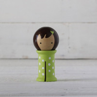 Doohikey Designs - Binding Babies Medium - Green with White Dots