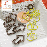 Webster Pages - Family Traditions - Apple and Arrow Paperclips - Set of  10