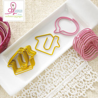 Webster Pages - Sweet Routine - House and Bubble Paperclips - Set of  10