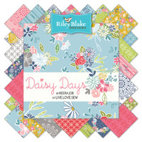 Riley Blake Fabric - Precuts Charm Pack - Daisy Days by Keera Job