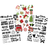 "Simple Stories - Very Merry - Clear Stickers 4""x 6"""