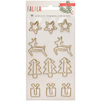 Crate Paper - Fa La La Paper Clips - Set of 11