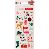 "Crate Paper - Fa La La Epoxy Stickers 3.5"" x 7.25"""