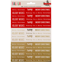 Crate Paper - Fa La La Phrase Stickers with Gold Foil