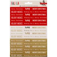Crate Paper - Fa La La Phrase Stickers with Gold Foil