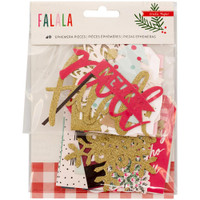 Crate Paper - Fa La La Ephemera Cardstock Die-Cuts - Set of 40