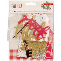 Crate Paper - Fa La La Ephemera Cardstock Die-Cuts - Set of 40
