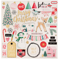 "Crate Paper - Fa La La Chipboard Stickers 12"" x 12"""