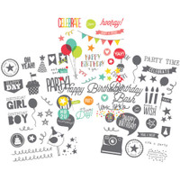 "Simple Stories - Let's Party Clear Stickers 4"" X 6"""