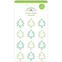 Doodlebug - Cute Clips - Christmas Trees - Set of 12
