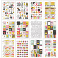 Carpe Diem - Simple Stories - A5 Sticker Book - Emoji Love