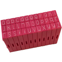 Pink & Main Curvy Girl Font Stamp Set 36pcs - Lowercase Alphabet
