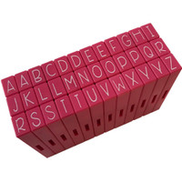 Pink & Main - Curvy Girl Font Stamp Set 36pcs - Uppercase Alphabet