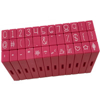 Pink & Main Curvy Girl Font Stamp Set 36pcs - Numbers and Symbols