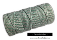 Baker's Twine 12 Ply - 100 Metre (110 Yards) Spool - Mint Green and White #BT12-26