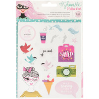 American Crafts - Shimelle Glitter Girl Sticker/Washi Book