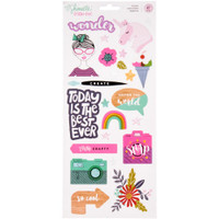 "American Crafts - Shimelle Glitter Girl Stickers 6"" x 12"""