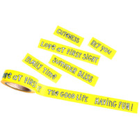 Freckled Fawn Repositionable Washi Tape 15mm x 10m - Doodle Phrase