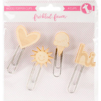 Freckled Fawn - Woodtopper Paper Clips - Set of 4