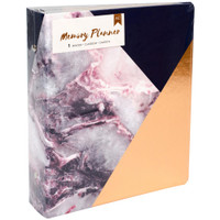 "American Crafts Memory Planner Binder 7.75"" x 8.75"" - Marble Crush - Gold Corner"