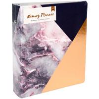 "American Crafts Memory Planner Binder 7.75"" x 8.75"" - Marble Crush - Gold Corner"