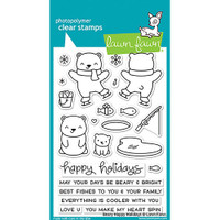 Lawn Fawn Clear Stamps - Beary Happy Holidays