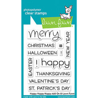 Lawn Fawn Clear Stamps - Happy Happy Happy