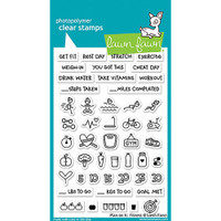 Lawn Fawn Clear Stamps - Plan On It Fitness