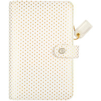 Webster's Pages - Color Crush - Faux Leather Personal Planner Kit - Gold Polka Dots