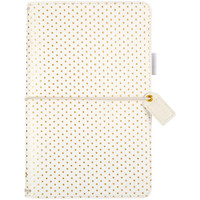 Webster's Pages - Color Crush - Travelers Journal - Gold Polka Dots - Standard