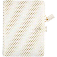 Webster's Pages - Color Crush - A5 Faux Leather Planner Kit - Gold Polka Dots