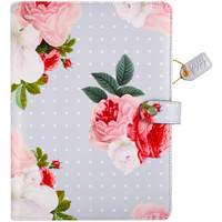 Webster's Pages - Color Crush - A5 Faux Leather Planner Kit - Gray Floral
