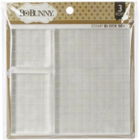 BoBunny  - Acrylic Stamp Blocks - Set of 3