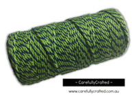 Baker's Twine 12 Ply - 100 Metre (110 Yards) Spool - Dark Green and Mid Green #BT12-36