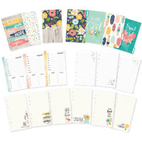 Carpe Diem - Simple Stories - Faith Double-Sided Personal Planner Inserts - Monthly Undated