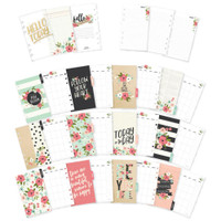 Carpe Diem - Simple Stories - Bloom Double-Sided Personal Planner Inserts - Monthly (Undated)