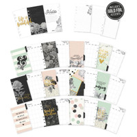 Carpe Diem - Simple Stories - Beautiful Double-Sided Personal Planner Inserts - Monthly Undated