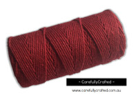 Baker's Twine 12 Ply - 100 Metre (110 Yards) Spool - Solid Red #BT12-40