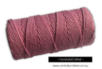 Baker's Twine 12 Ply - 100 Metre (110 Yards) Spool - Solid Pink #BT12-41