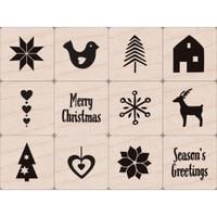 Hero Arts - Mounted Stamps Mini Tub - Christmas