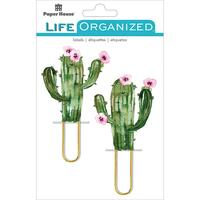 Paper House Life Organized - Puffy Clips - Set of 2 - Cacti