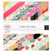 "Pink Paislee - American Crafts - Single-Sided Paper Pad 6"" x 6"" - Turn the Page"