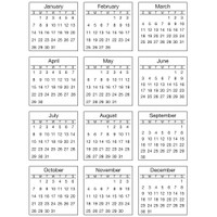 "OUTDATED - SRM Press - SRM Standard Mini Calendar 2018 Stickers 6.75"" x 9"""