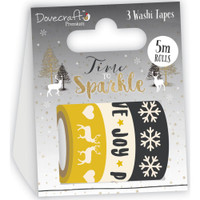 Dovecraft - Time To Sparkle - Washi Tapes - Set of 3