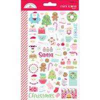 Doodlebug Mini Cardstock Stickers - Milk & Cookies Mini Icons