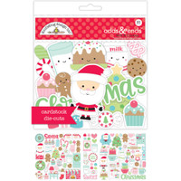 Doodlebug Odds & Ends Die-Cuts - Milk & Cookies - Set of 93